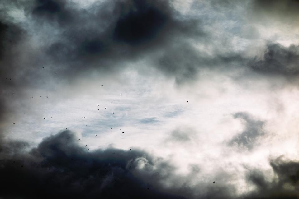 nature dark sky clouds white black ashes particles