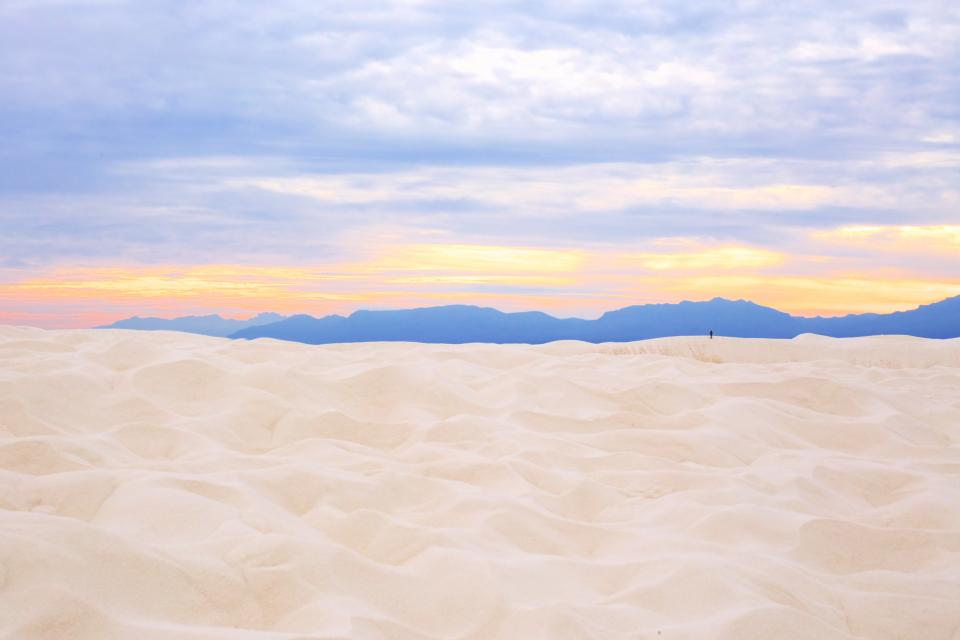 clouds sky mountain landscape nature outdoor travel white sand beach