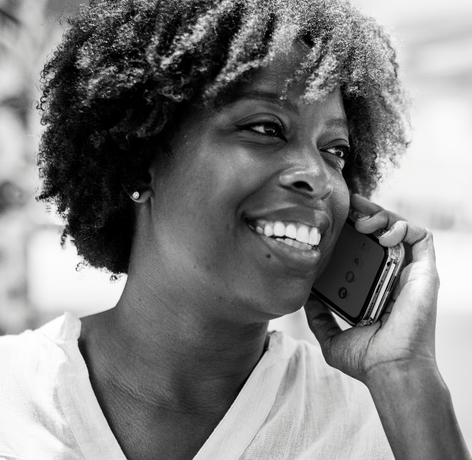 african american black and white cellphone cheerful communication community connecting connection conversation data device digital electronic gadget global grayscale happiness happy information innovatio