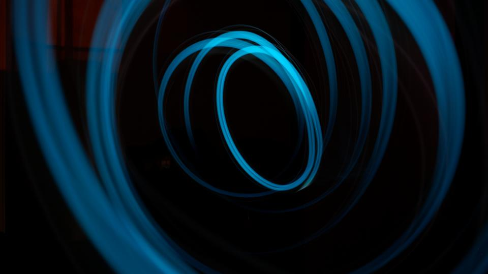 dark night abstract blue light blur