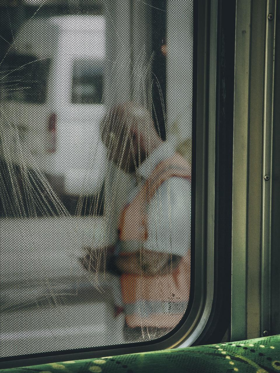 train window people man travel