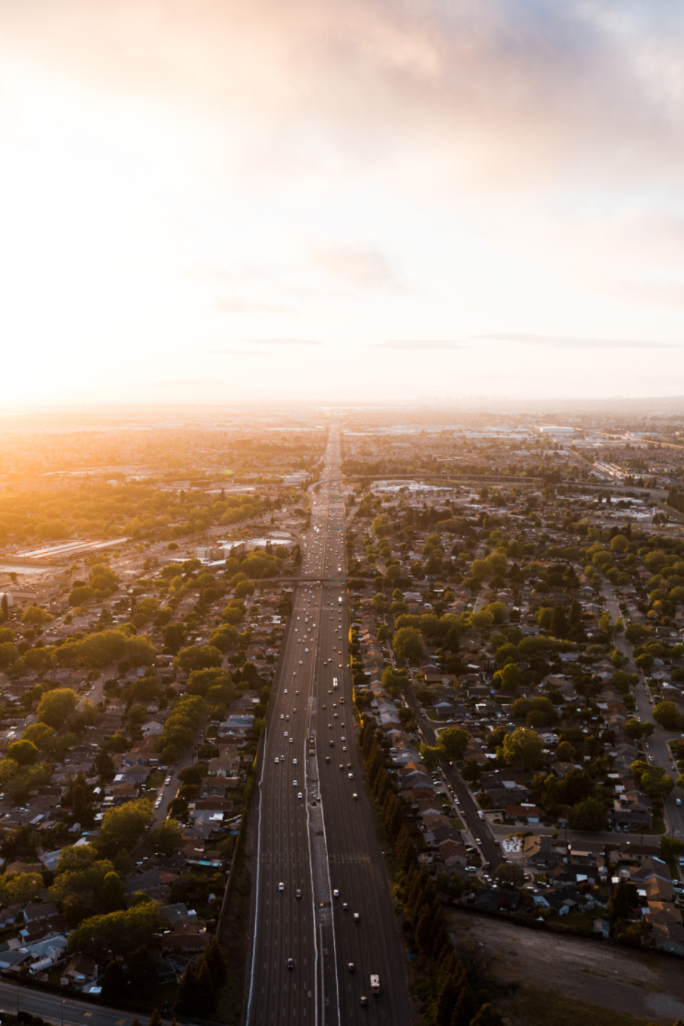 Free stock photo of aerial commute