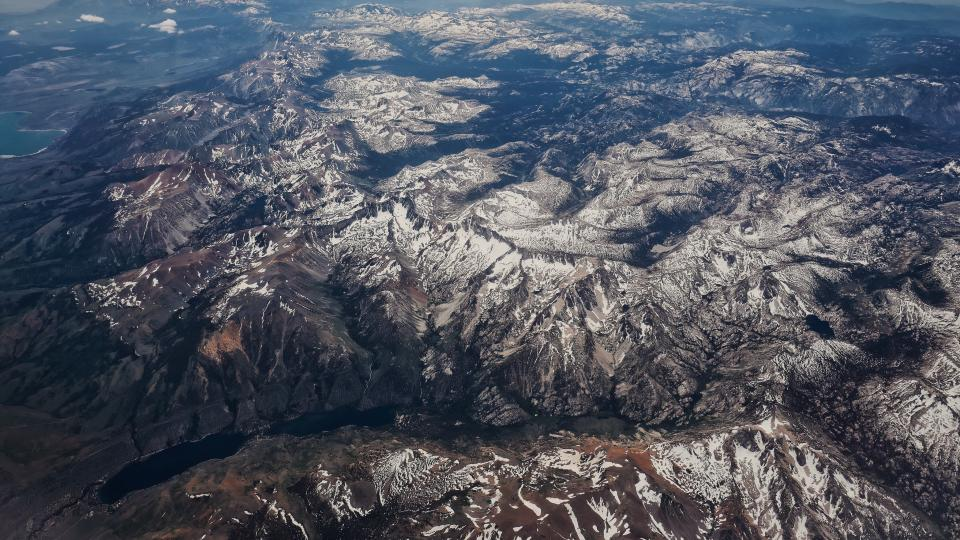 aerial view mountain