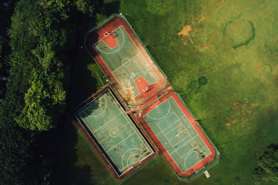 aerial view green