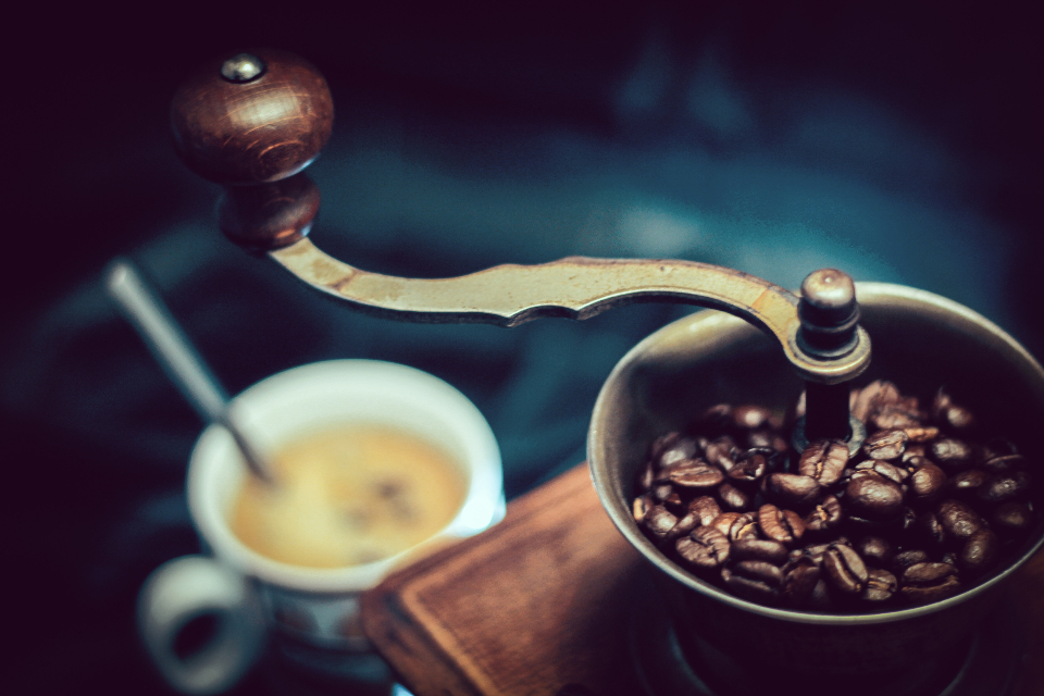 Free stock photo of antique coffee