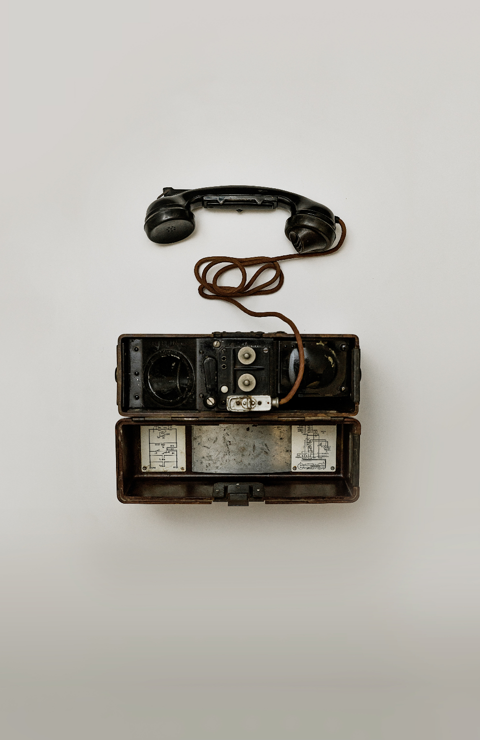 antique telephone communication