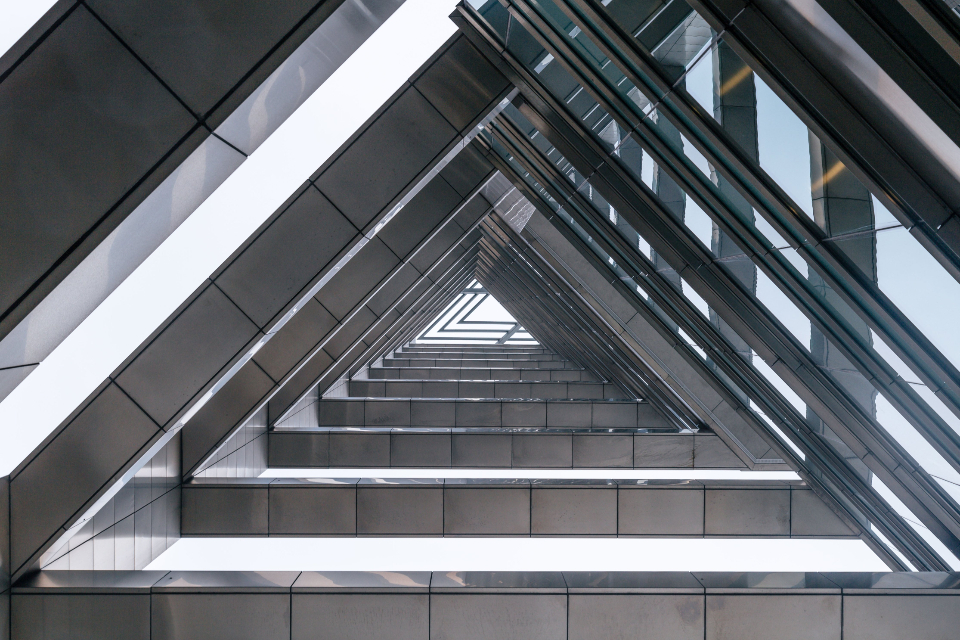 architecture triangles modern