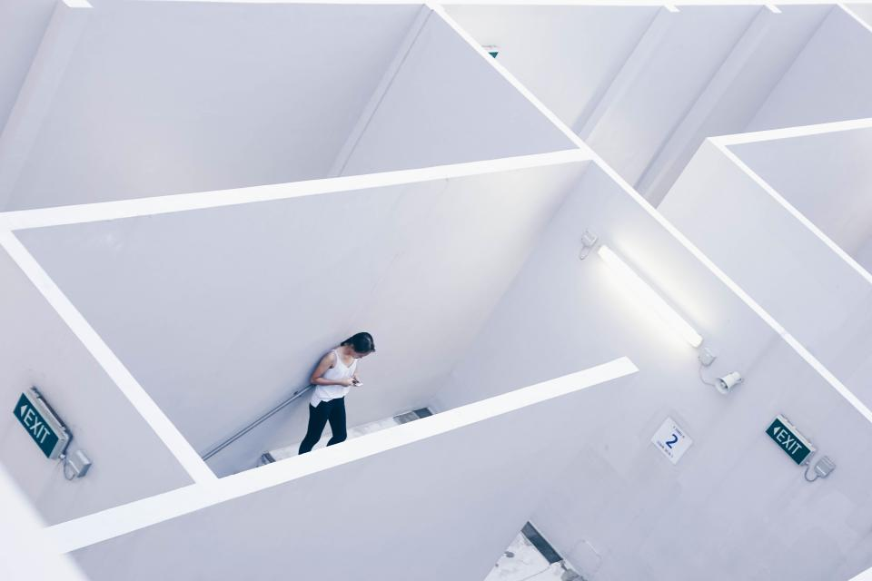 architecture white cubicle