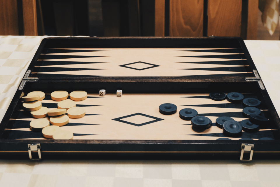 backgammon board game game