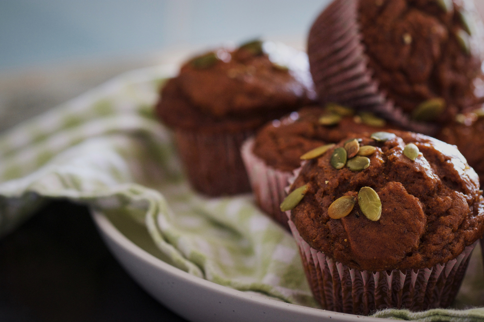 baked muffins food