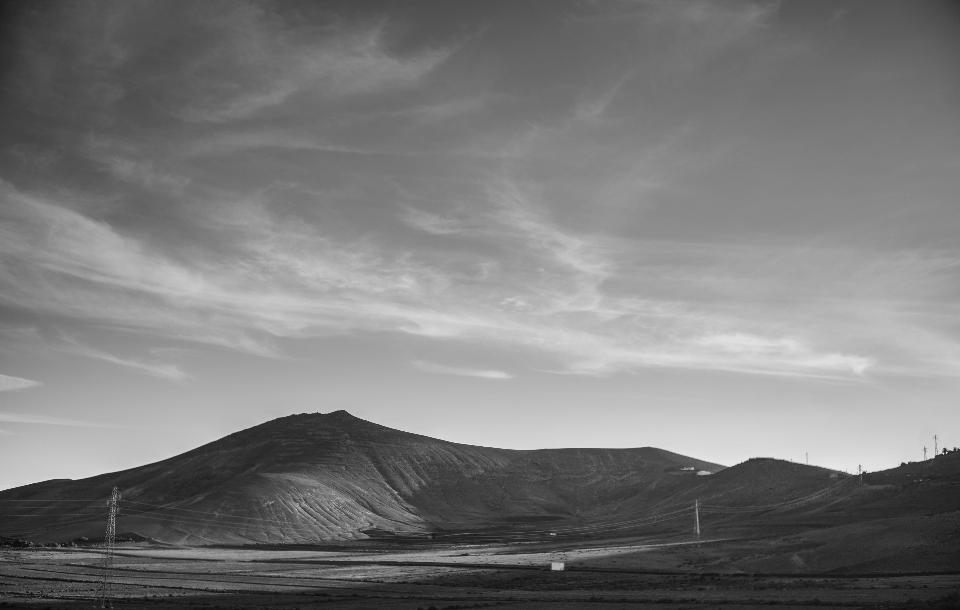 black & white dramatic landscape