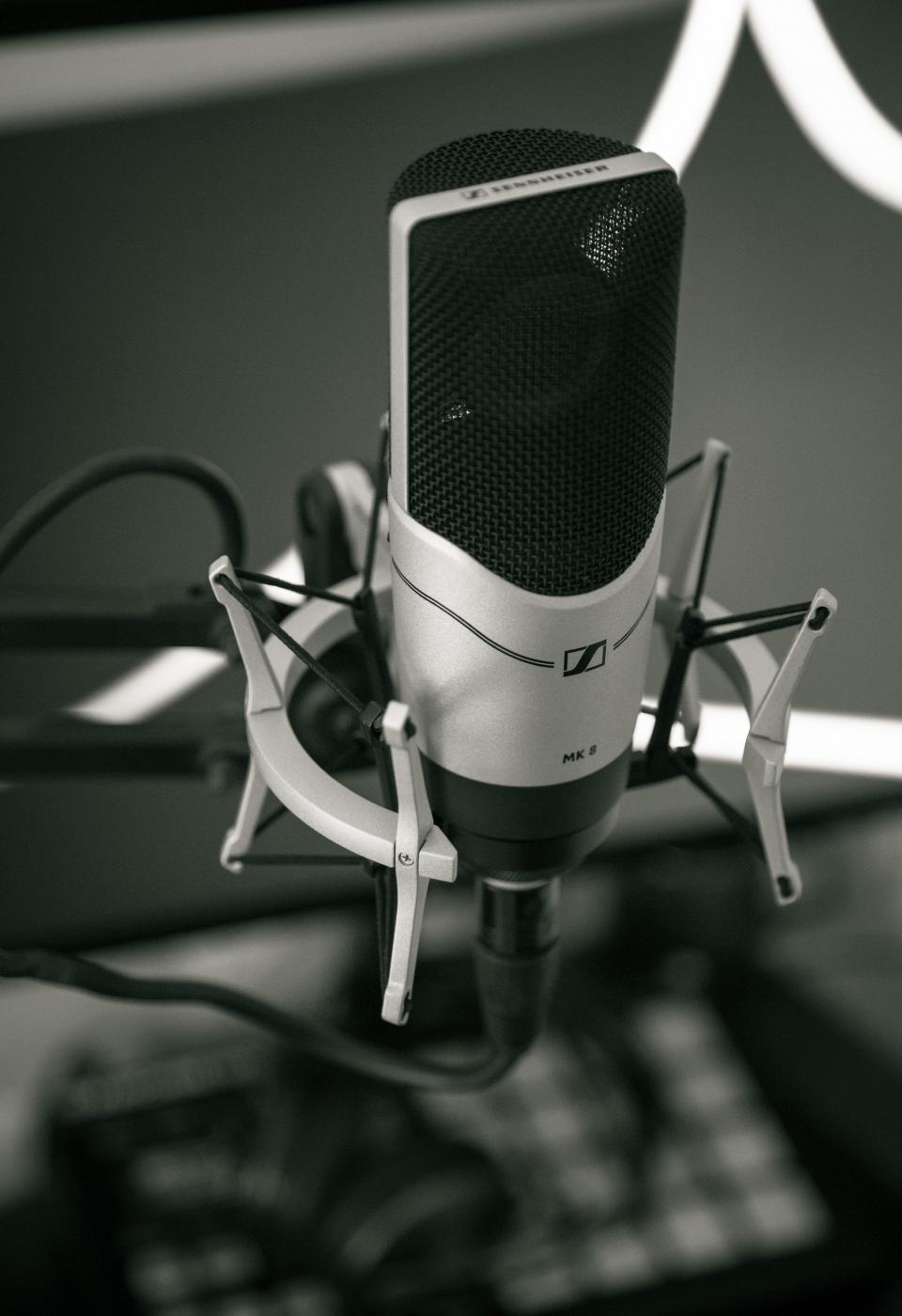 black and white microphone filter