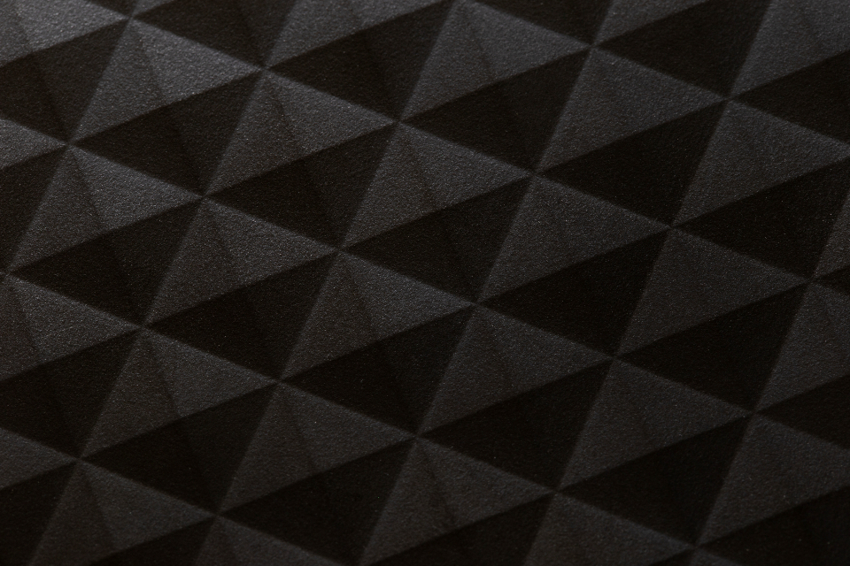 black square background