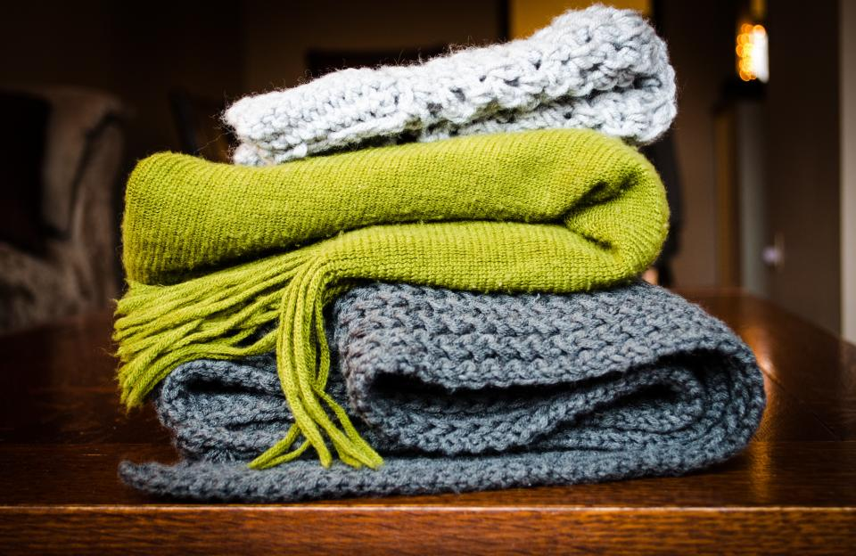Free stock photo of blanket scarf