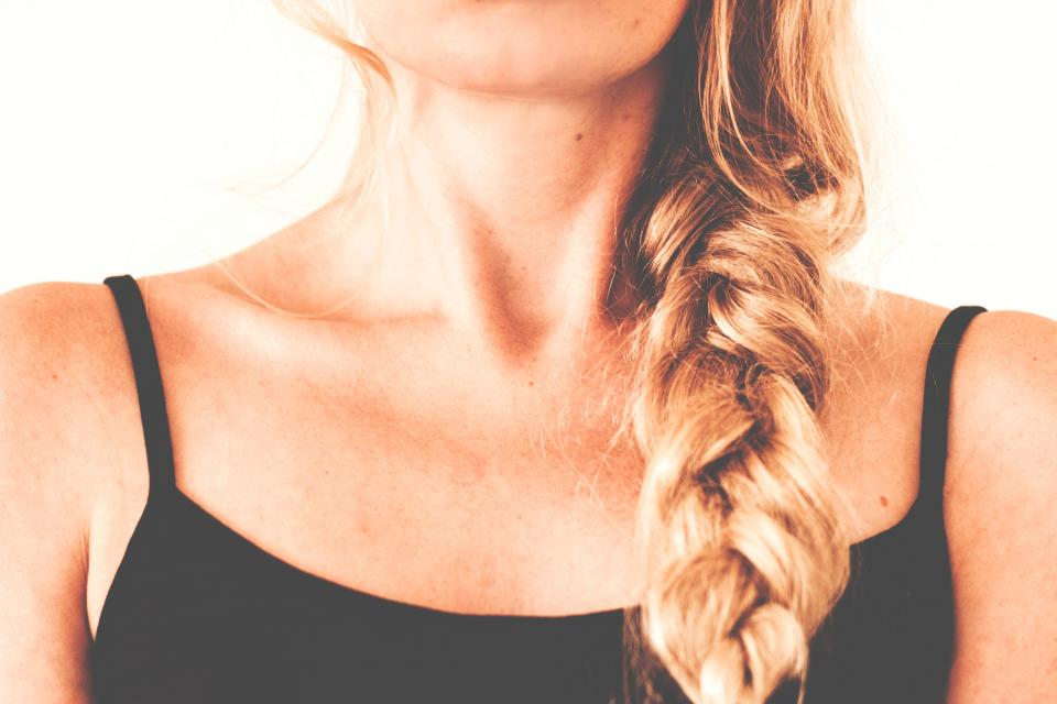 blonde hair braid