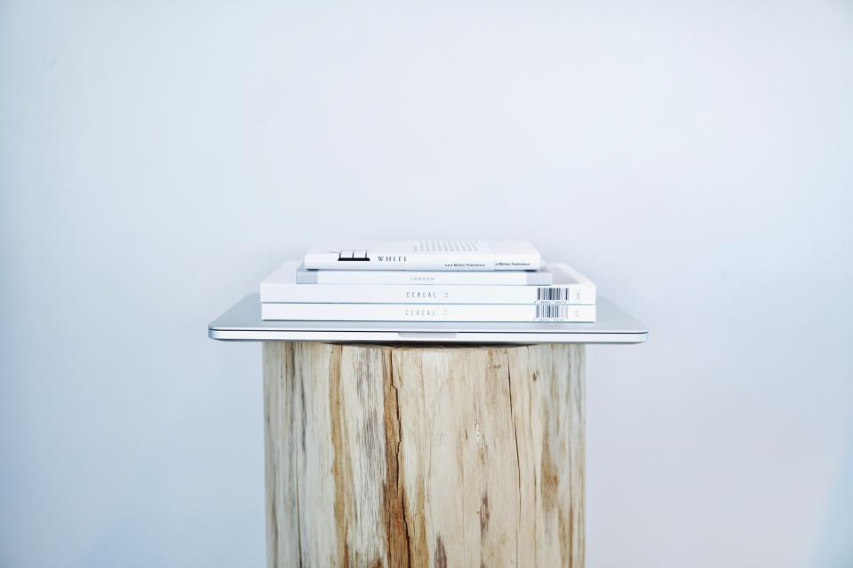 book wooden table