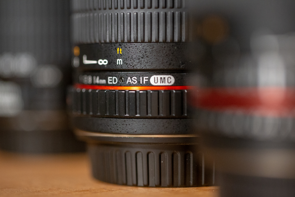 camera lenses close up