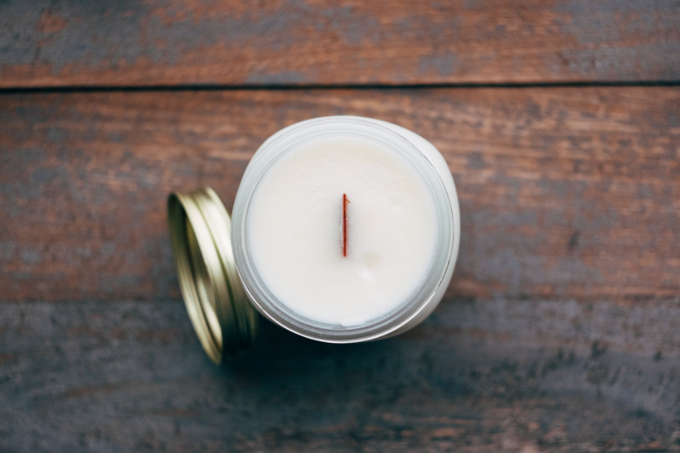 candle jar white
