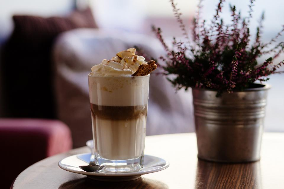 Free stock photo of cappuccino drink