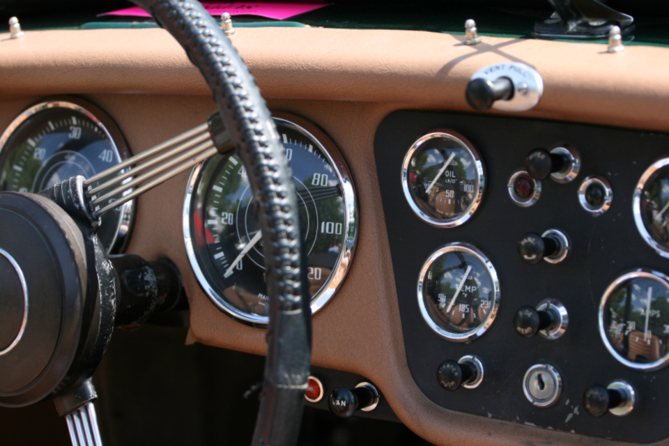 car dashboard interior