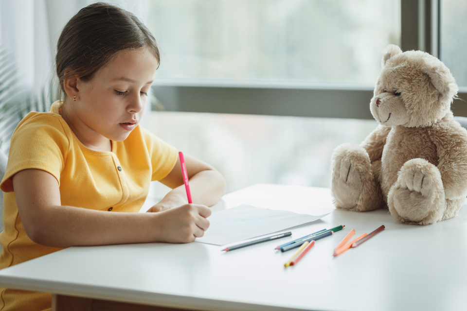 Free stock photo of child homework
