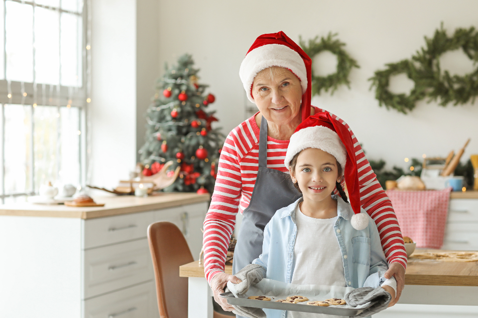 christmas child cooking