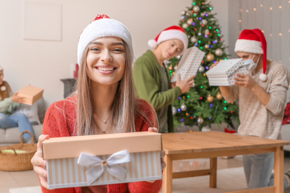 Free stock photo of christmas person