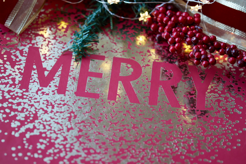 christmas words background