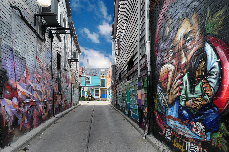 Free stock photo of city alley