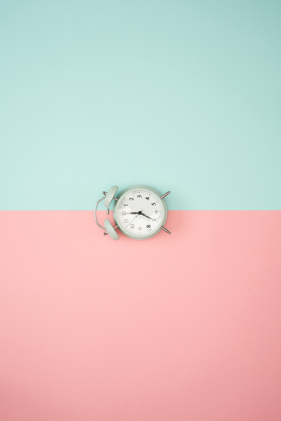 clock pastel background blue