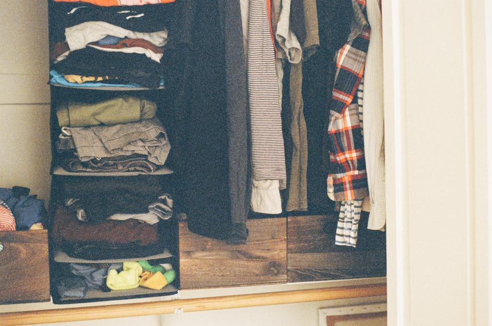 closet clothes shirts