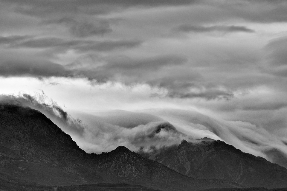 clouds mountains weather