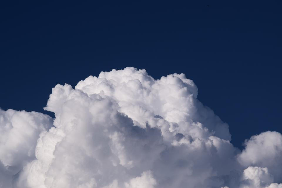 Free stock photo of cloudy blue