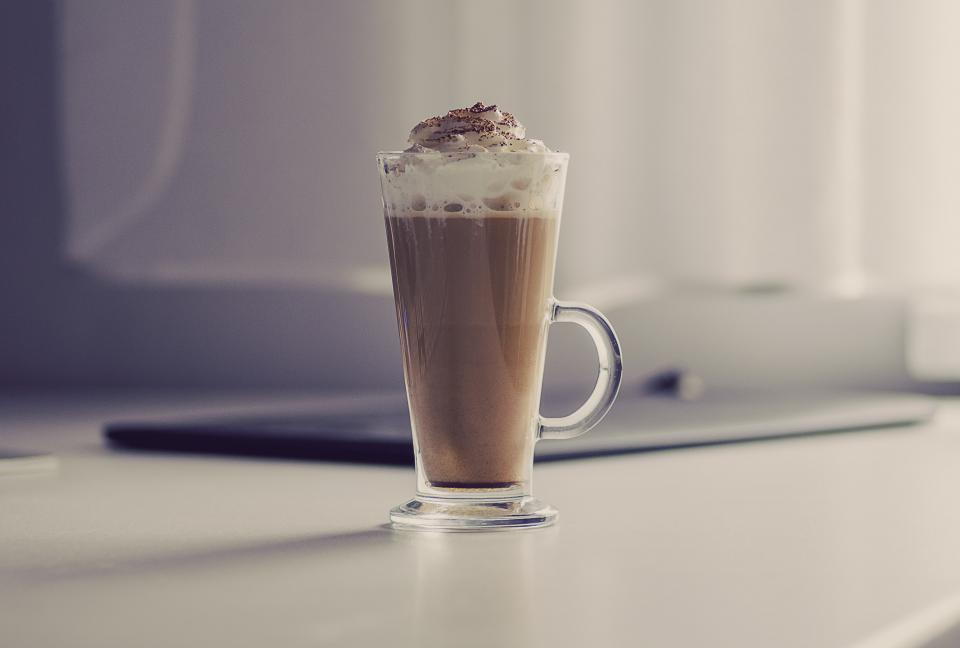 coffee latte whipped cream