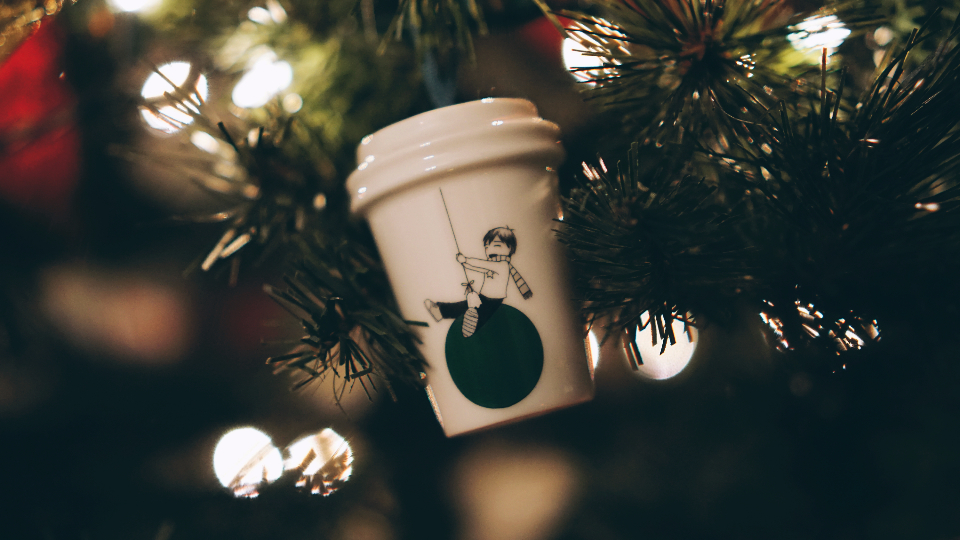 coffee starbucks ornament