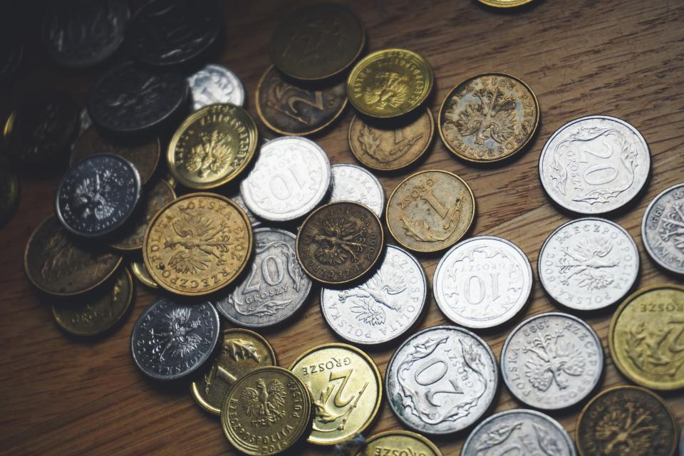 Free stock photo of coins money