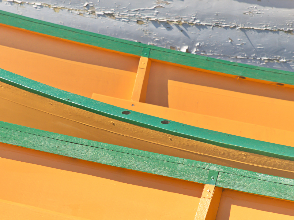 color boat abstract