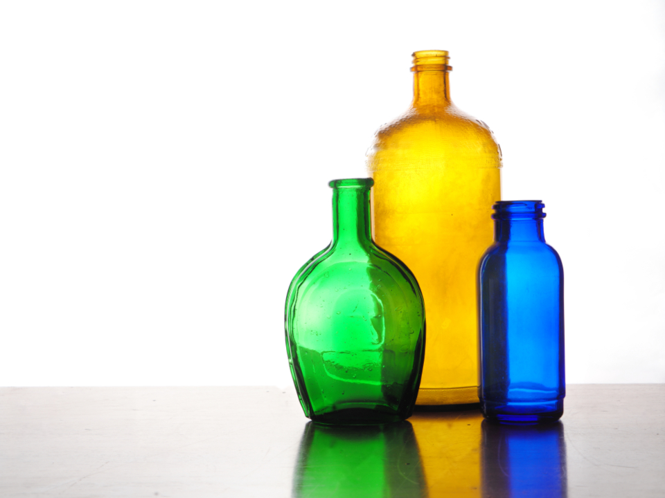 colored bottles glass