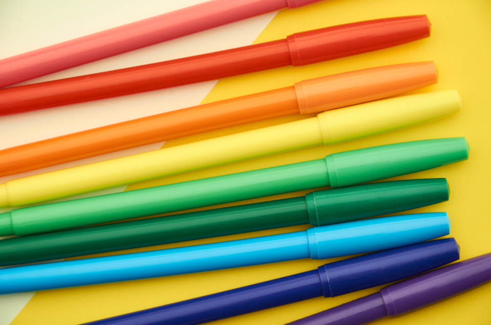 colored markers background
