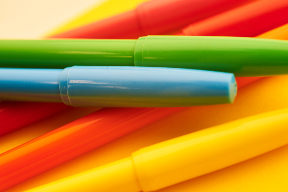 Free stock photo of colored markers
