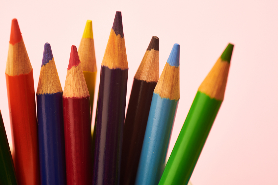 colored pencil background