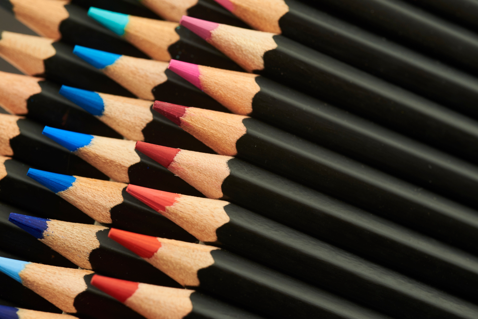 Free stock photo of colored pencil