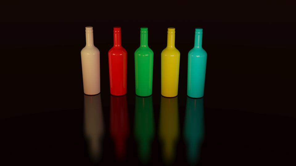 colorful bottles container