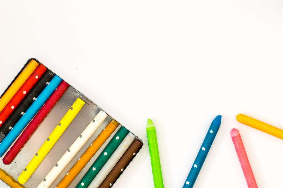 Free stock photo of colorful crayons