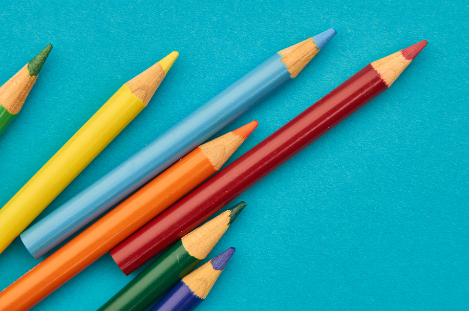 Free stock photo of colorful pencils