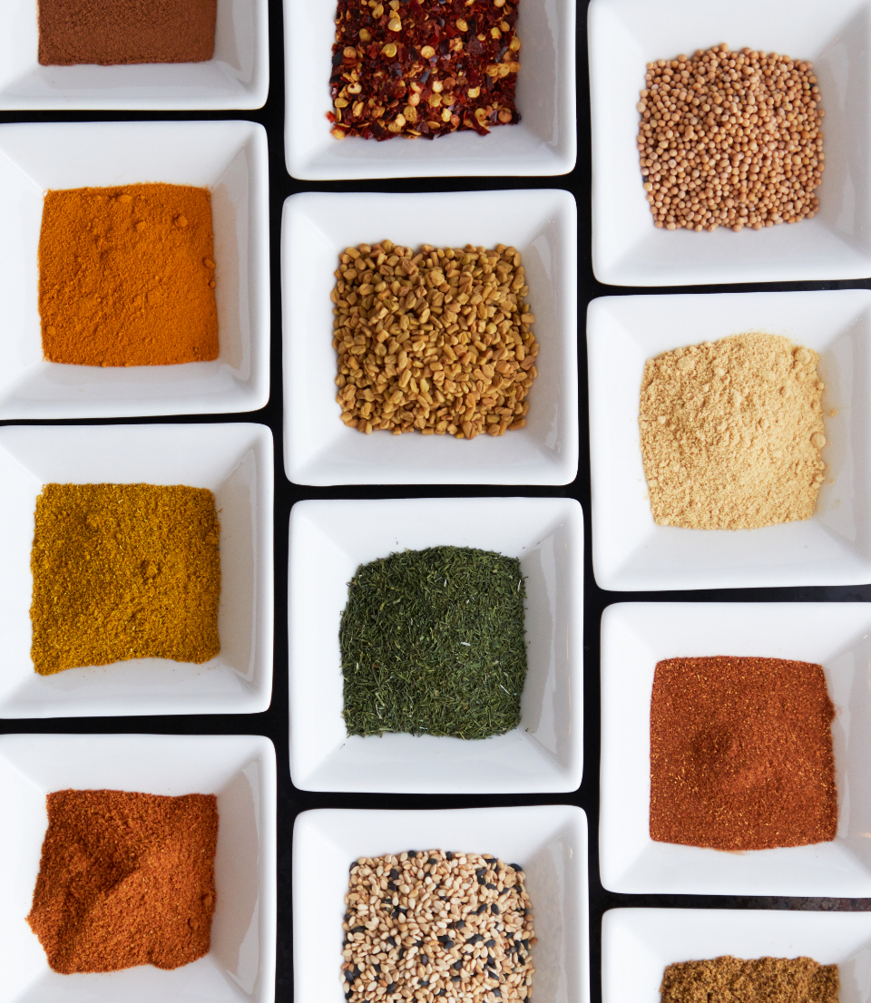 colorful spices background