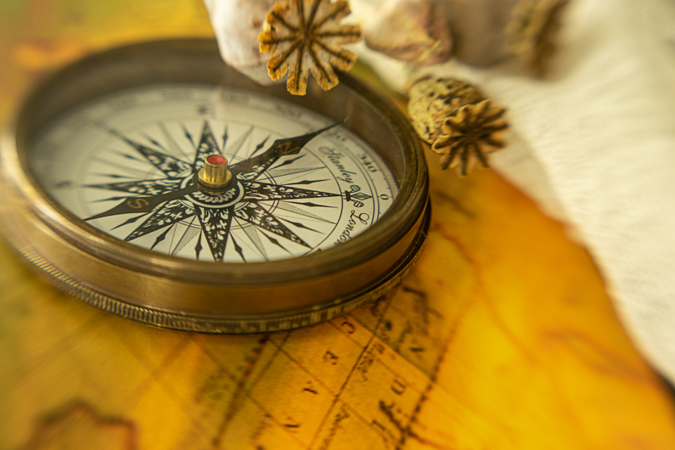 Free stock photo of compass map