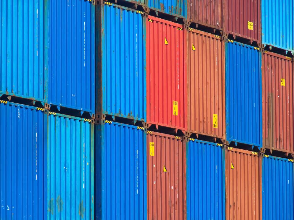 Free stock photo of container stack