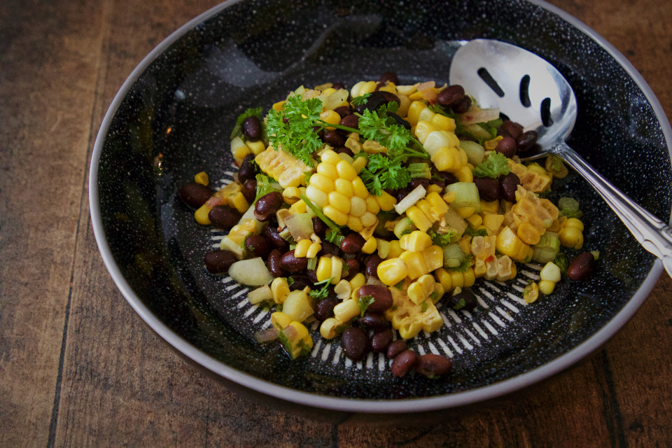 Free stock photo of corn salad