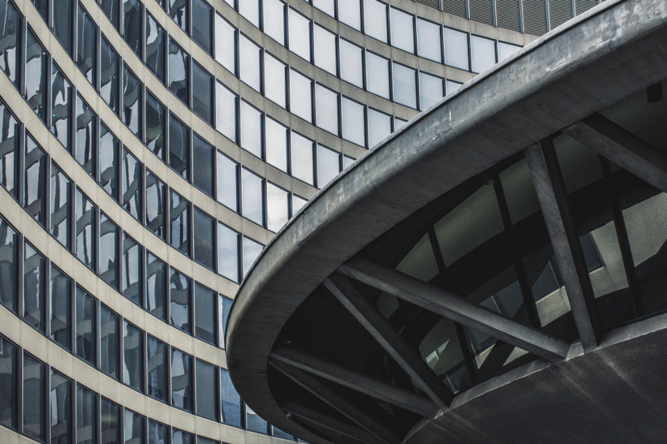 curved building windows